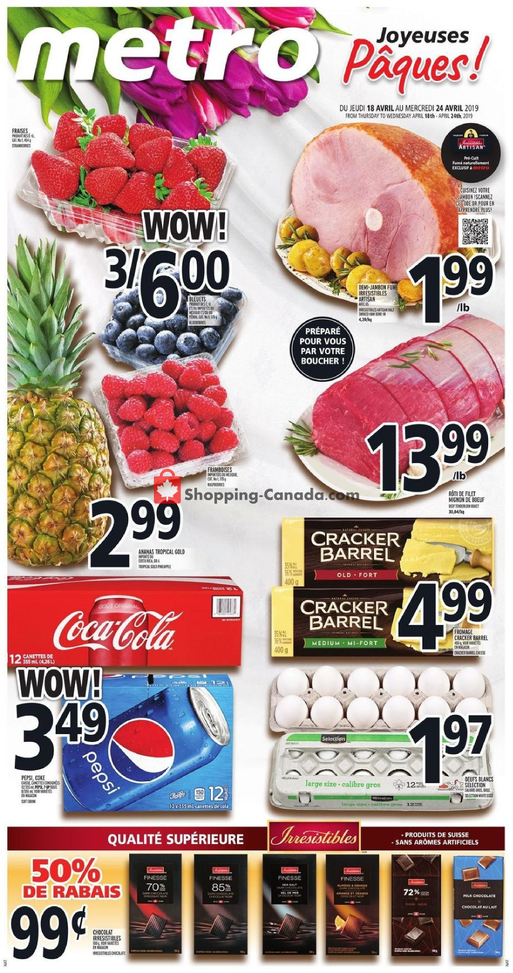 Flyer Metro Canada - from Thursday April 18, 2019 to Wednesday April 24, 2019
