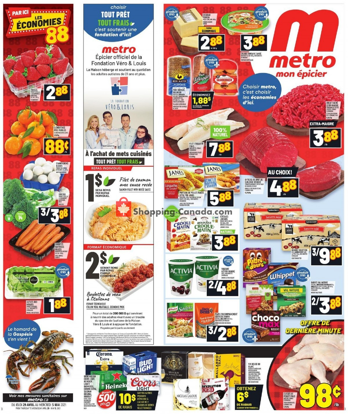 Flyer Metro Canada - from Thursday April 29, 2021 to Wednesday May 5, 2021