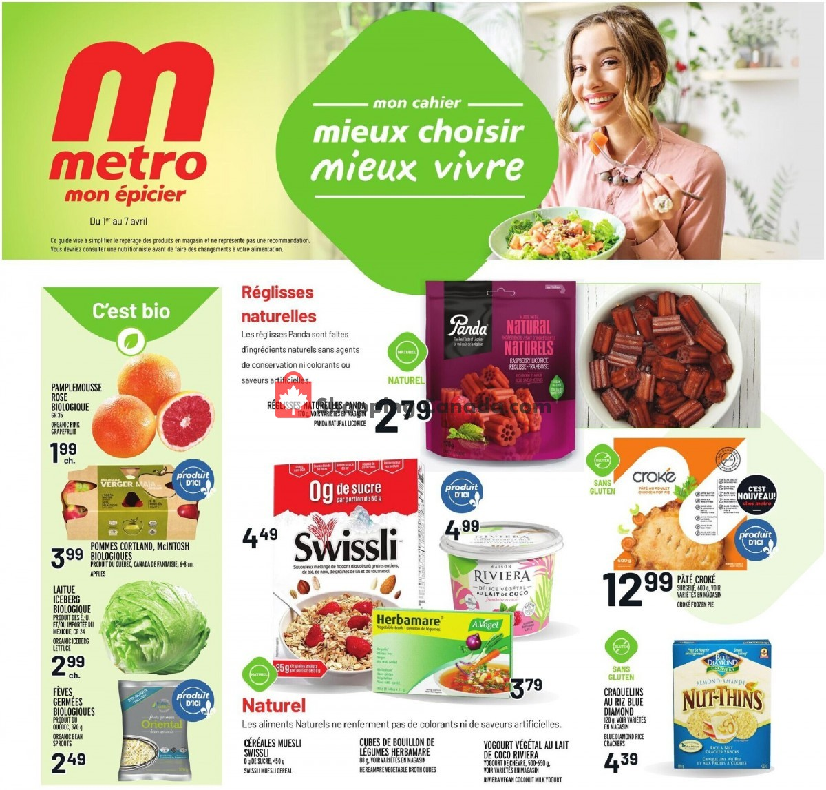 Flyer Metro Canada - from Thursday April 1, 2021 to Wednesday April 7, 2021