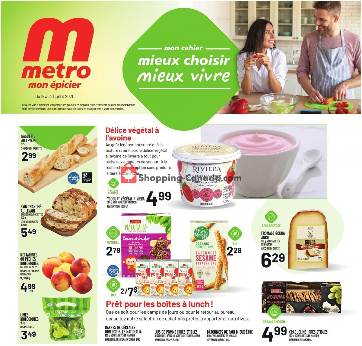 Flyer Metro Canada - from Thursday July 15, 2021 to Wednesday July 21, 2021