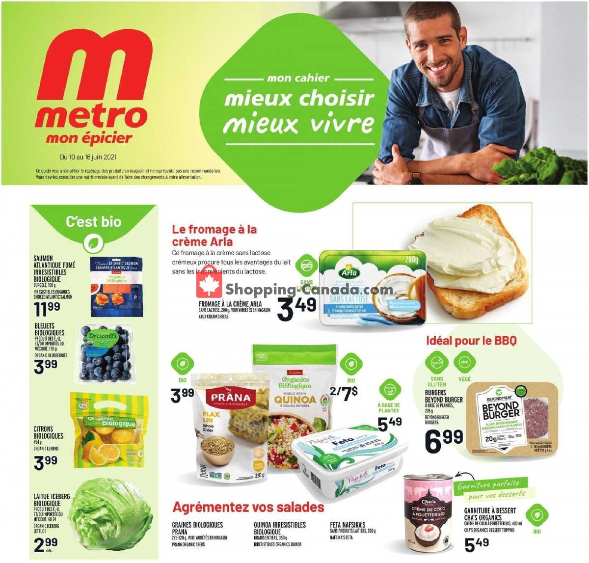 Flyer Metro Canada - from Thursday June 10, 2021 to Wednesday June 16, 2021