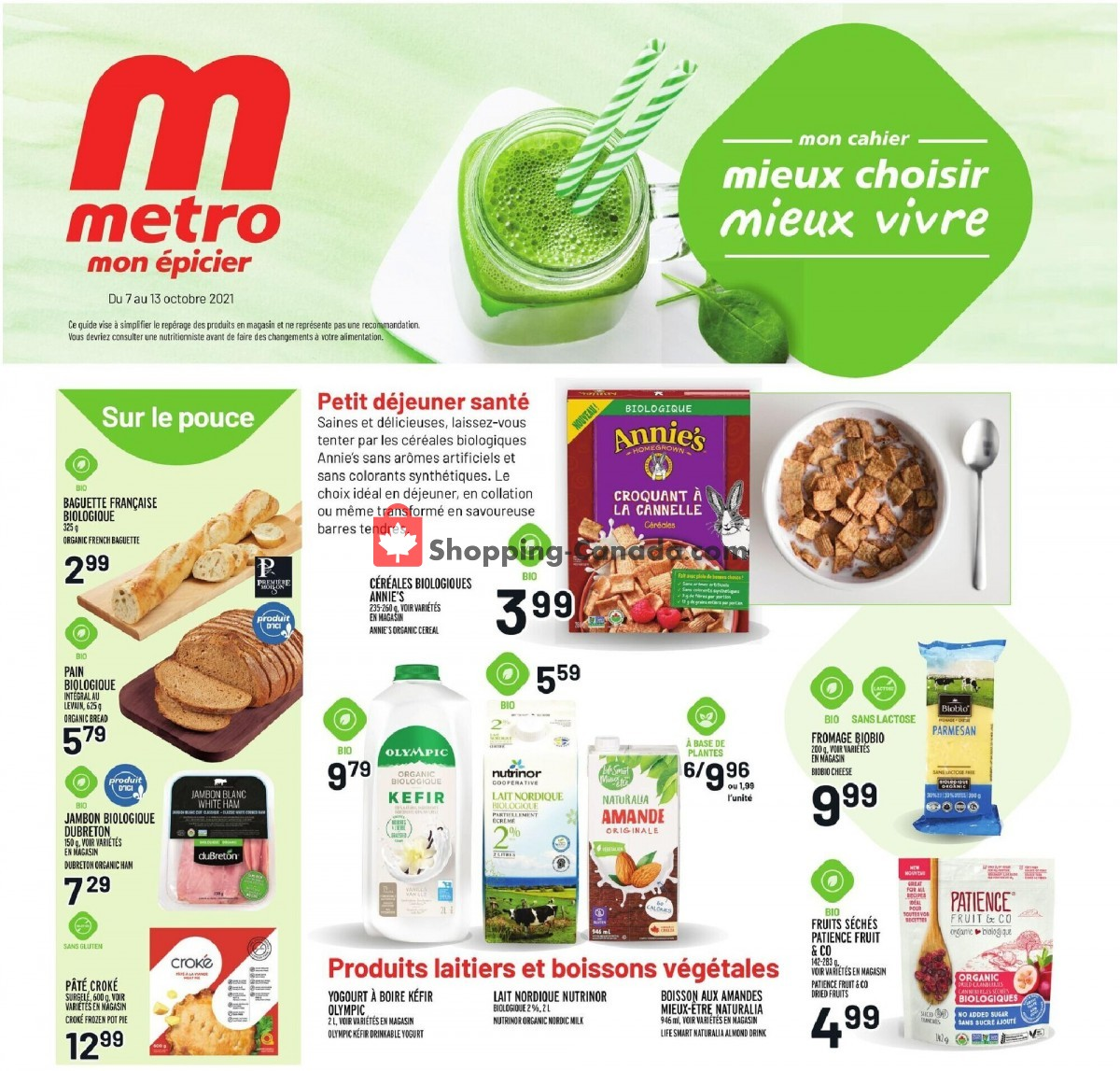 Flyer Metro Canada - from Thursday October 7, 2021 to Wednesday October 13, 2021
