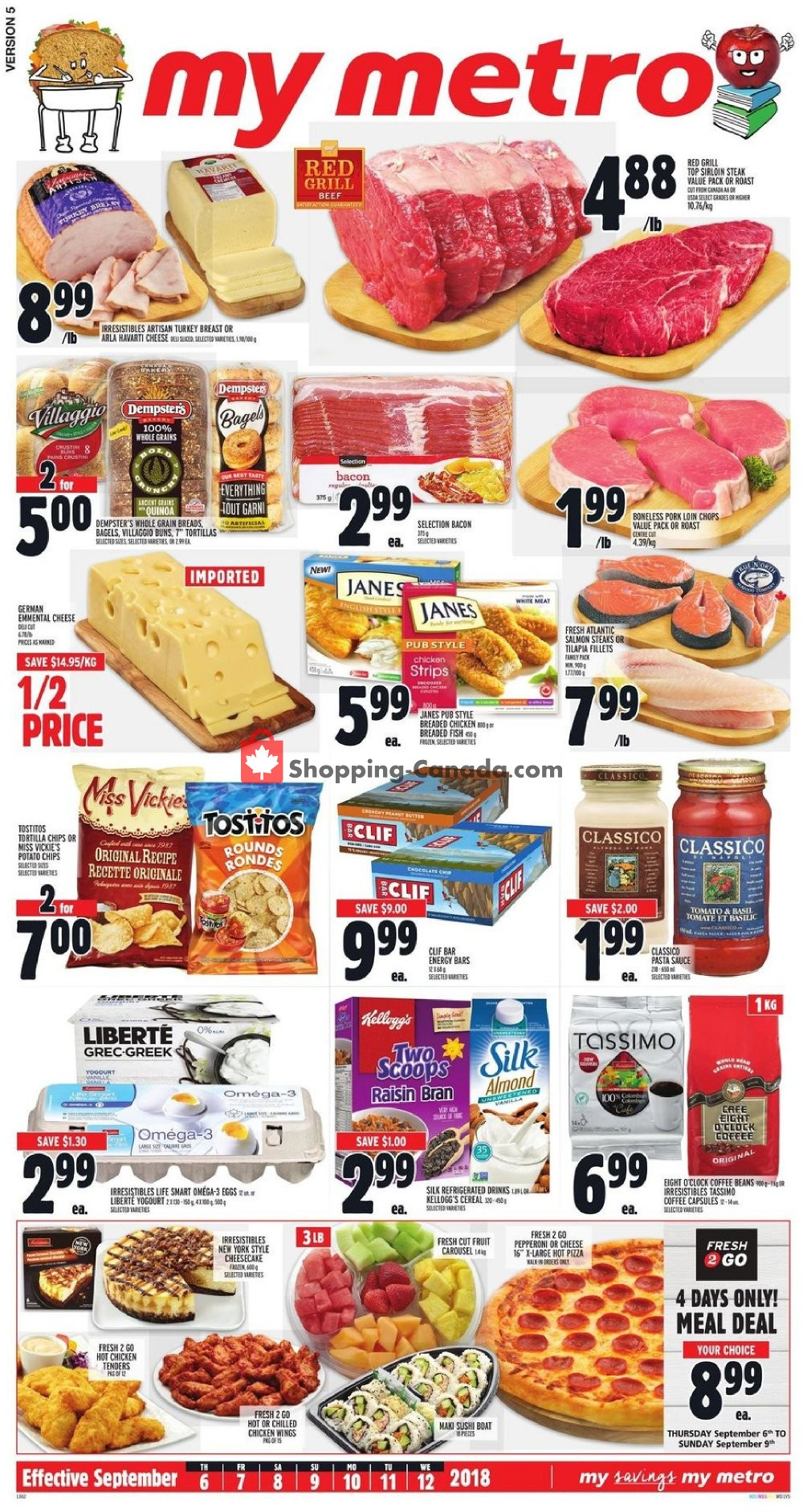 Flyer Metro Canada - from Thursday September 6, 2018 to Wednesday September 12, 2018