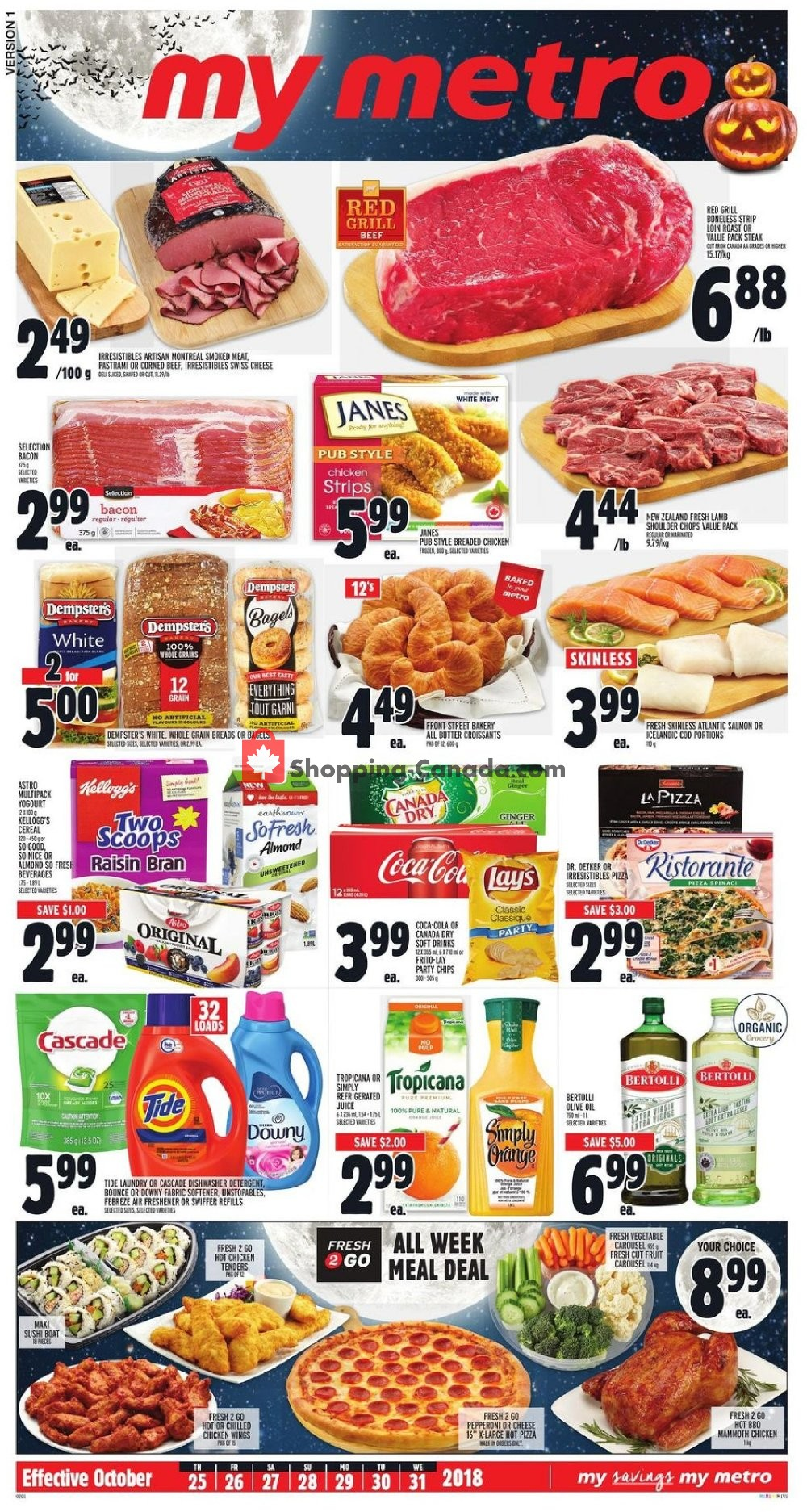 Flyer Metro Canada - from Thursday October 25, 2018 to Wednesday October 31, 2018