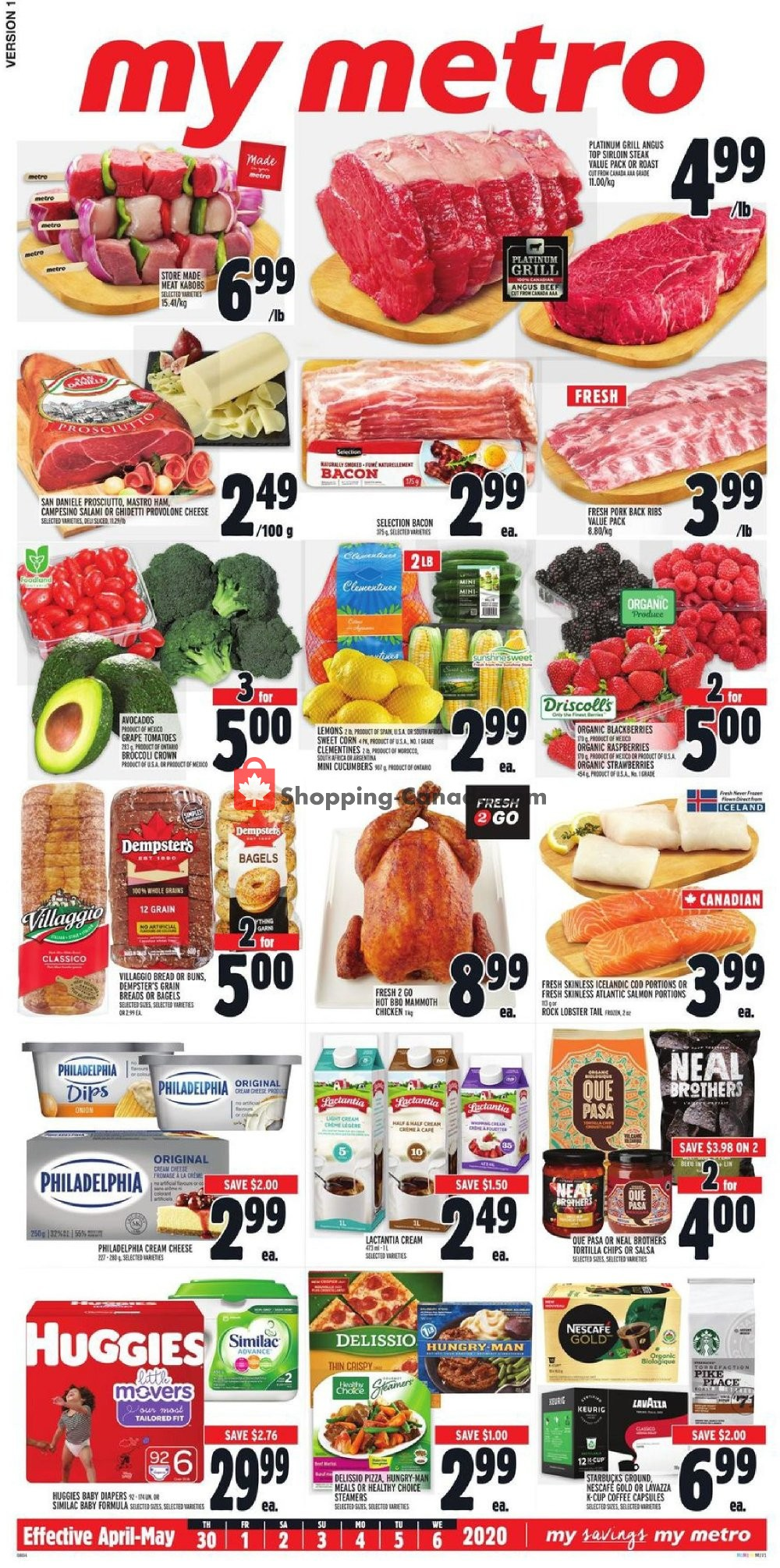 Flyer Metro Canada - from Thursday April 30, 2020 to Wednesday May 6, 2020