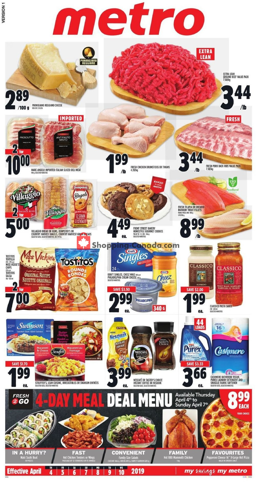 Flyer Metro Canada - from Thursday April 4, 2019 to Wednesday April 10, 2019