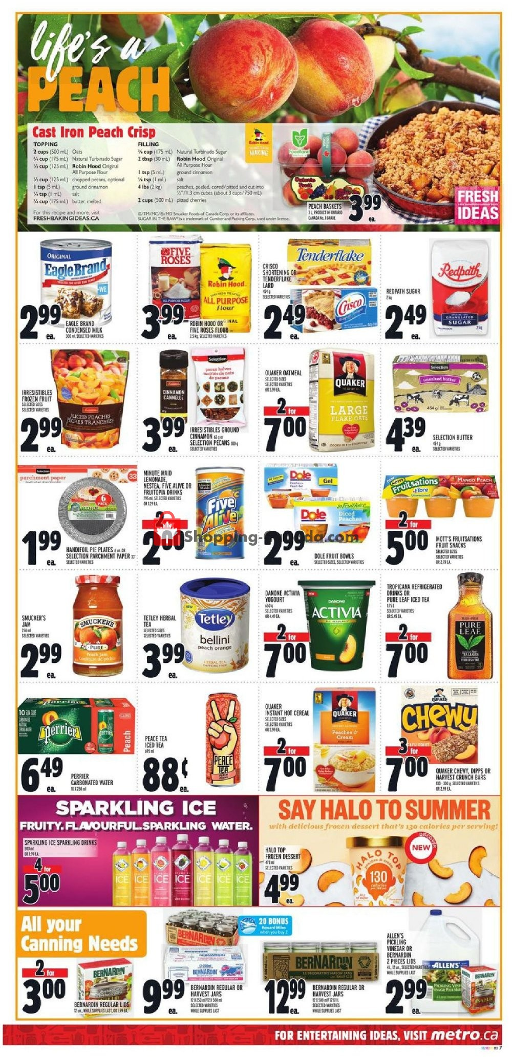 Flyer Metro Canada - from Thursday August 8, 2019 to Wednesday August 14, 2019