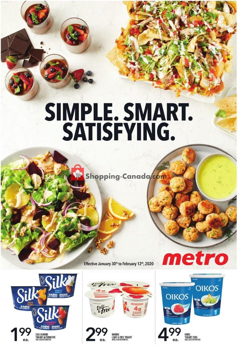 Flyer Metro Canada - from Thursday January 30, 2020 to Wednesday February 12, 2020