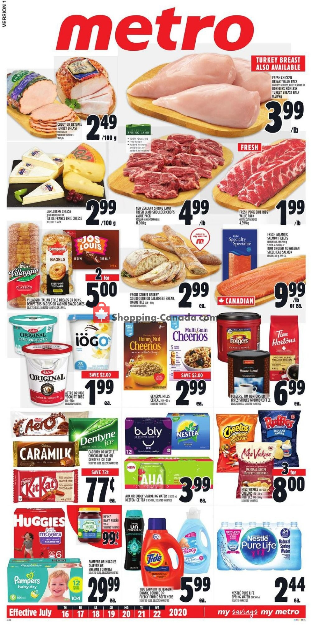Flyer Metro Canada - from Thursday July 16, 2020 to Wednesday July 22, 2020