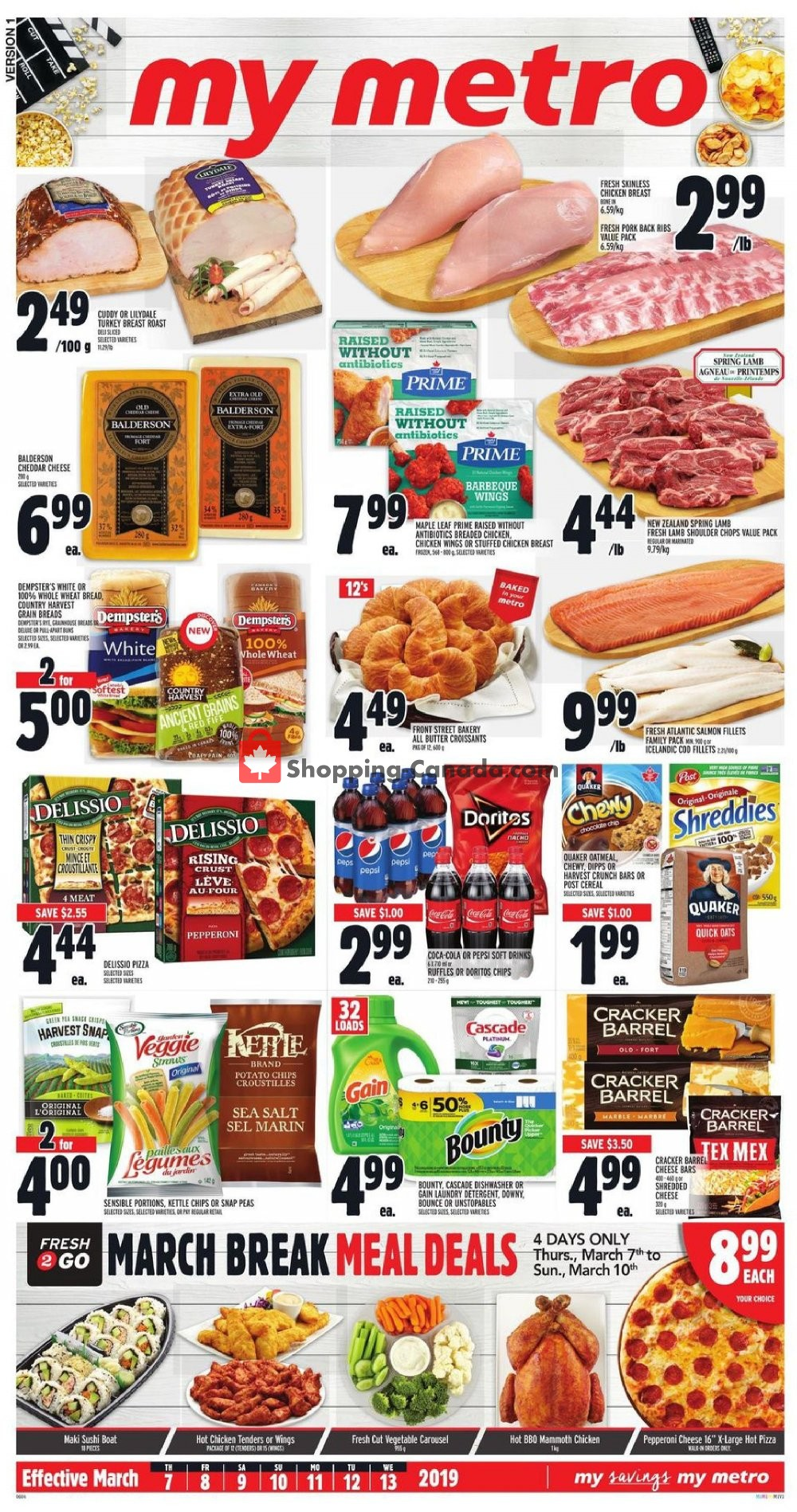 Flyer Metro Canada - from Thursday March 7, 2019 to Wednesday March 13, 2019