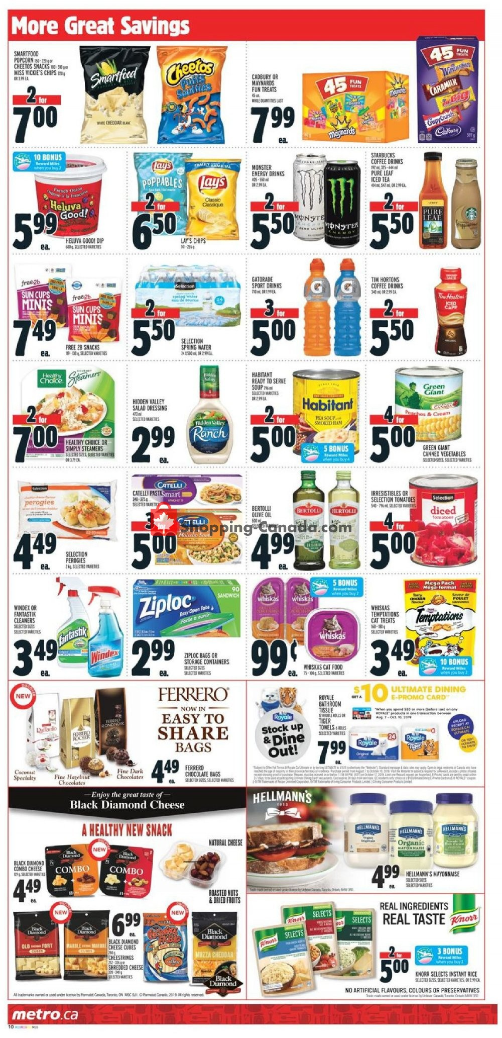 Flyer Metro Canada - from Thursday September 5, 2019 to Wednesday September 11, 2019
