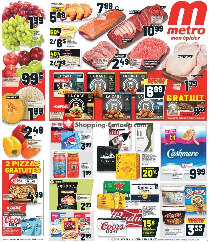 Flyer Metro Canada - from Thursday January 30, 2020 to Wednesday February 5, 2020