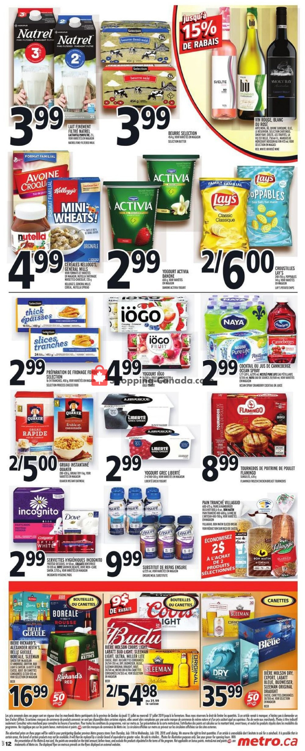 Flyer Metro Canada - from Thursday July 11, 2019 to Wednesday July 17, 2019