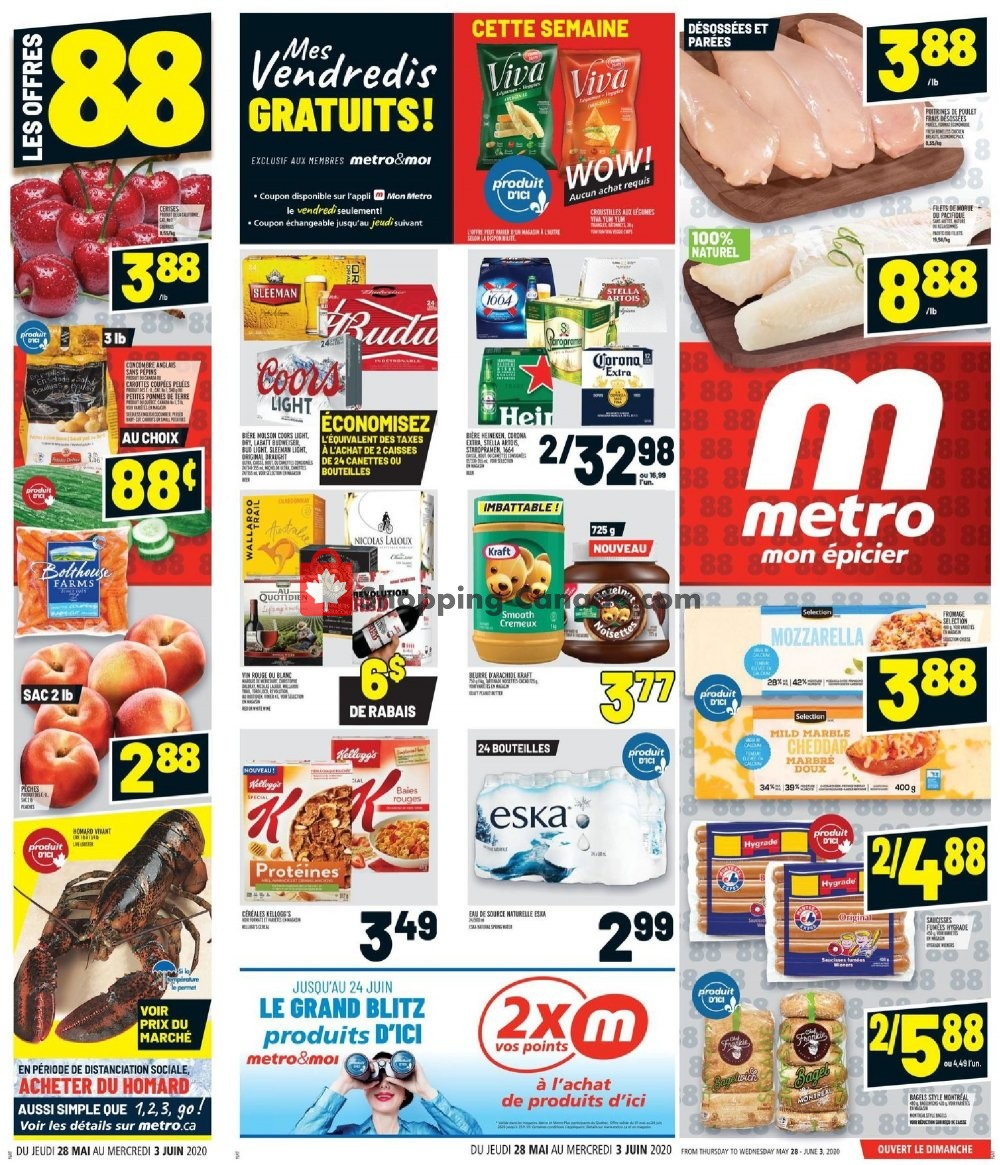 Flyer Metro Canada - from Thursday May 28, 2020 to Wednesday June 3, 2020