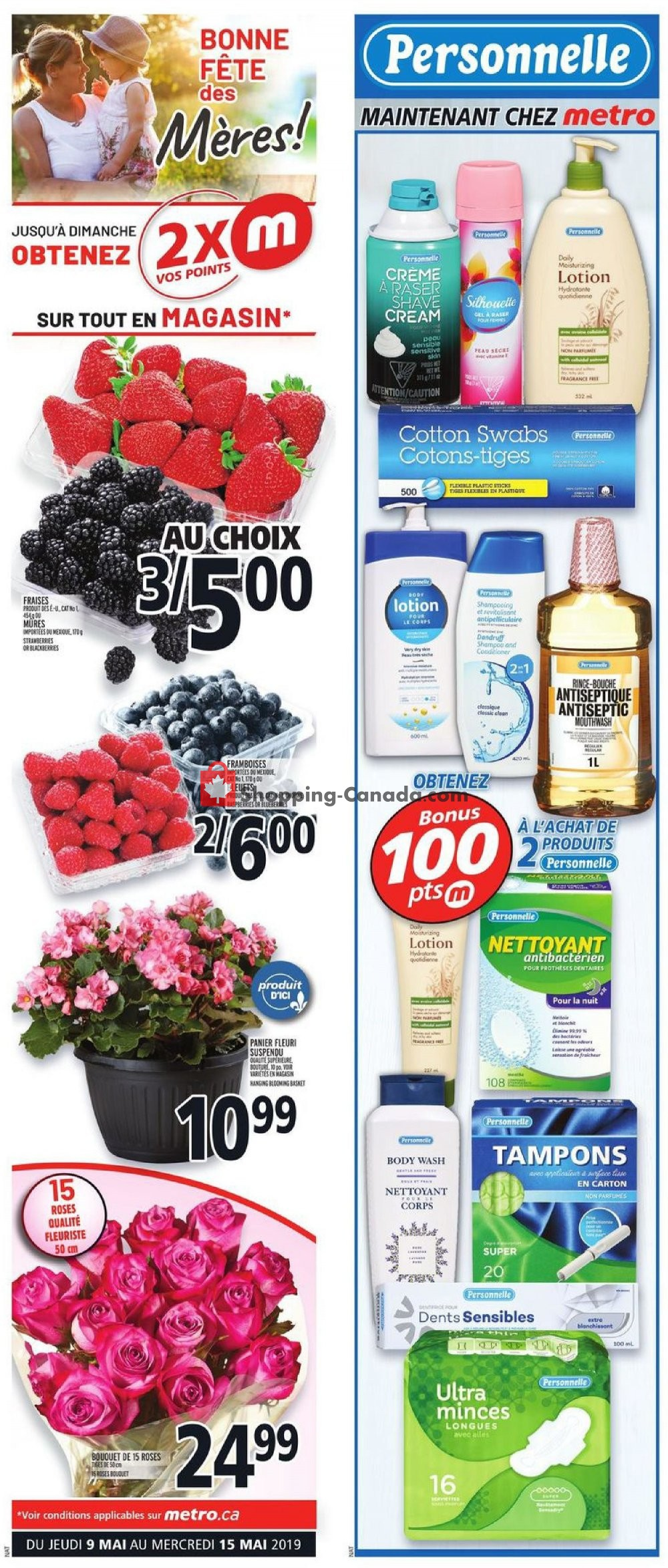 Flyer Metro Canada - from Thursday May 9, 2019 to Wednesday May 15, 2019