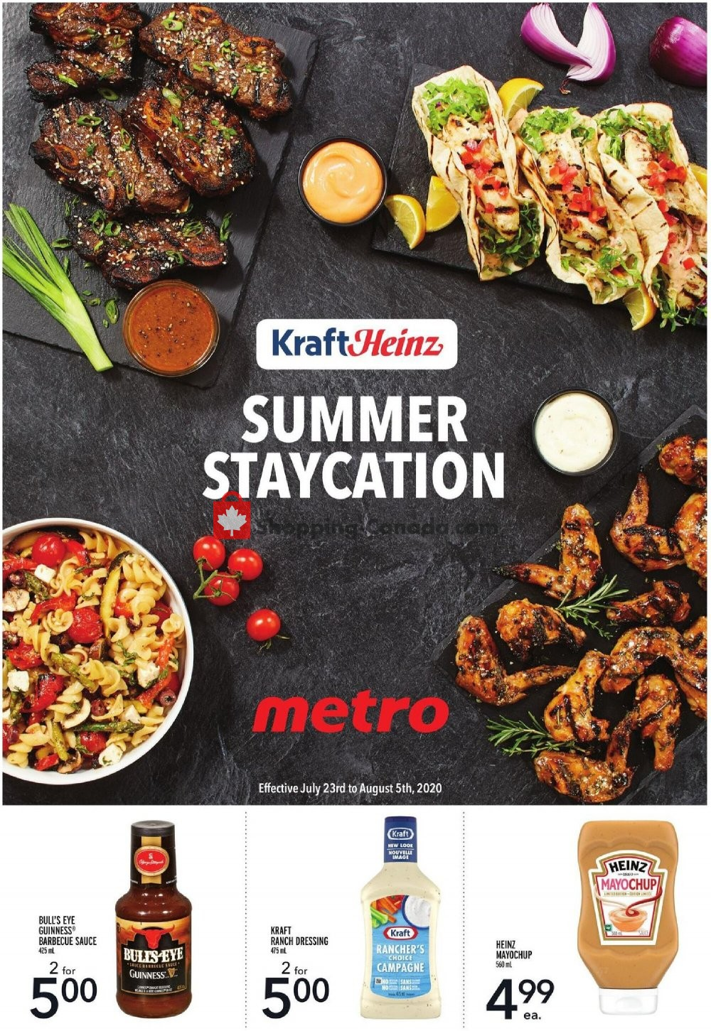 Flyer Metro Canada - from Thursday July 23, 2020 to Wednesday August 5, 2020