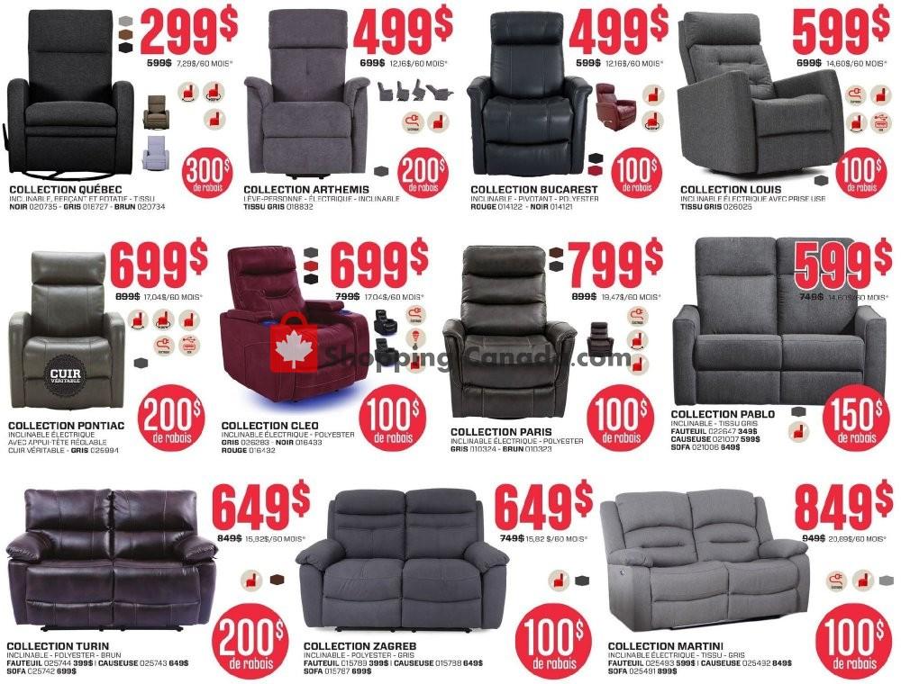Meubles Rd Canada Flyer Grand Destockage January 6 January 26 2020 Shopping Canada