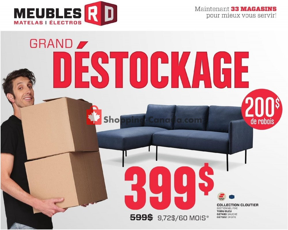 Flyer Meubles RD Canada - from Tuesday October 13, 2020 to Sunday October 18, 2020
