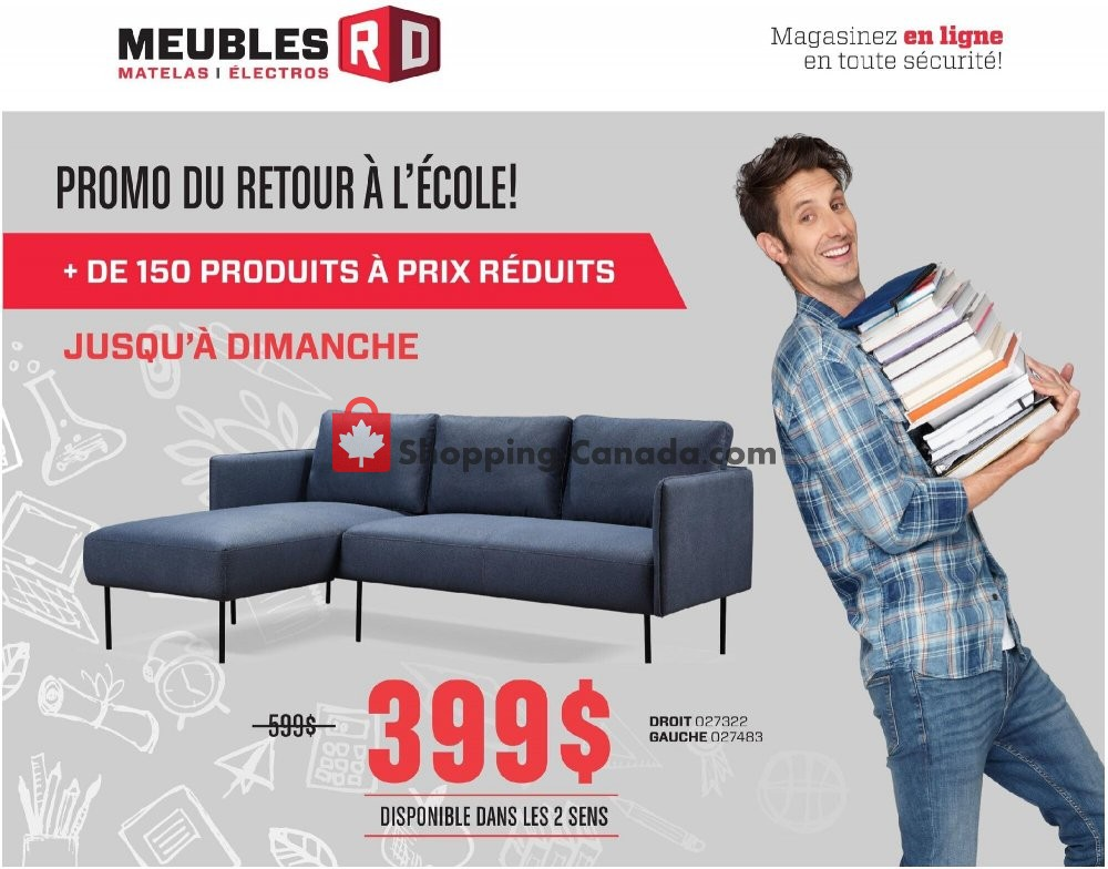Flyer Meubles RD Canada - from Monday August 3, 2020 to Sunday August 9, 2020
