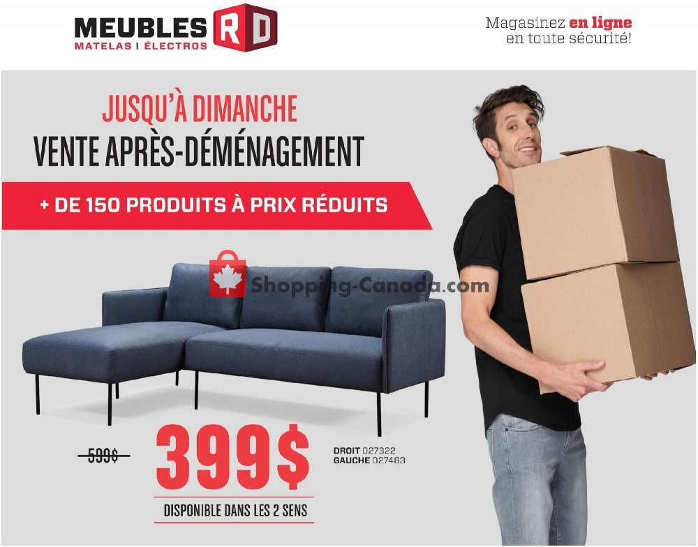 Flyer Meubles RD Canada - from Monday July 6, 2020 to Sunday July 12, 2020