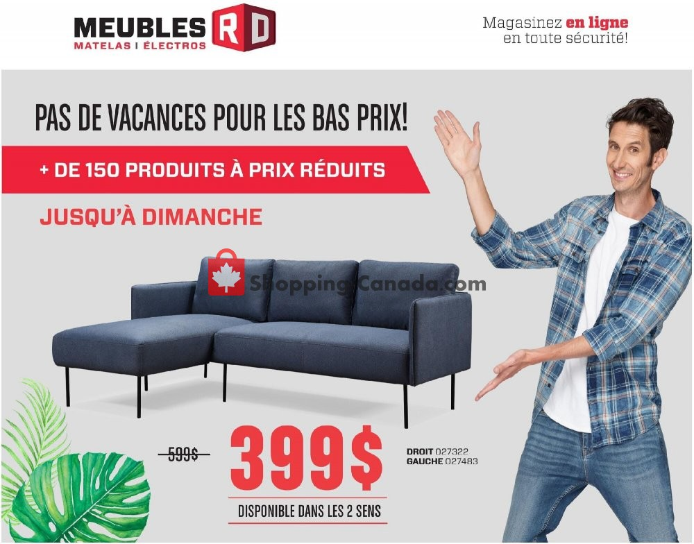 Flyer Meubles RD Canada - from Monday July 27, 2020 to Sunday August 2, 2020
