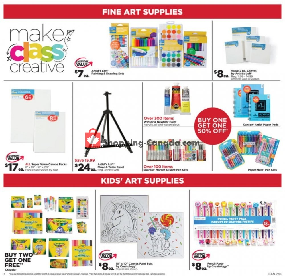Flyer Michaels Canada - from Friday July 12, 2019 to Thursday July 18, 2019