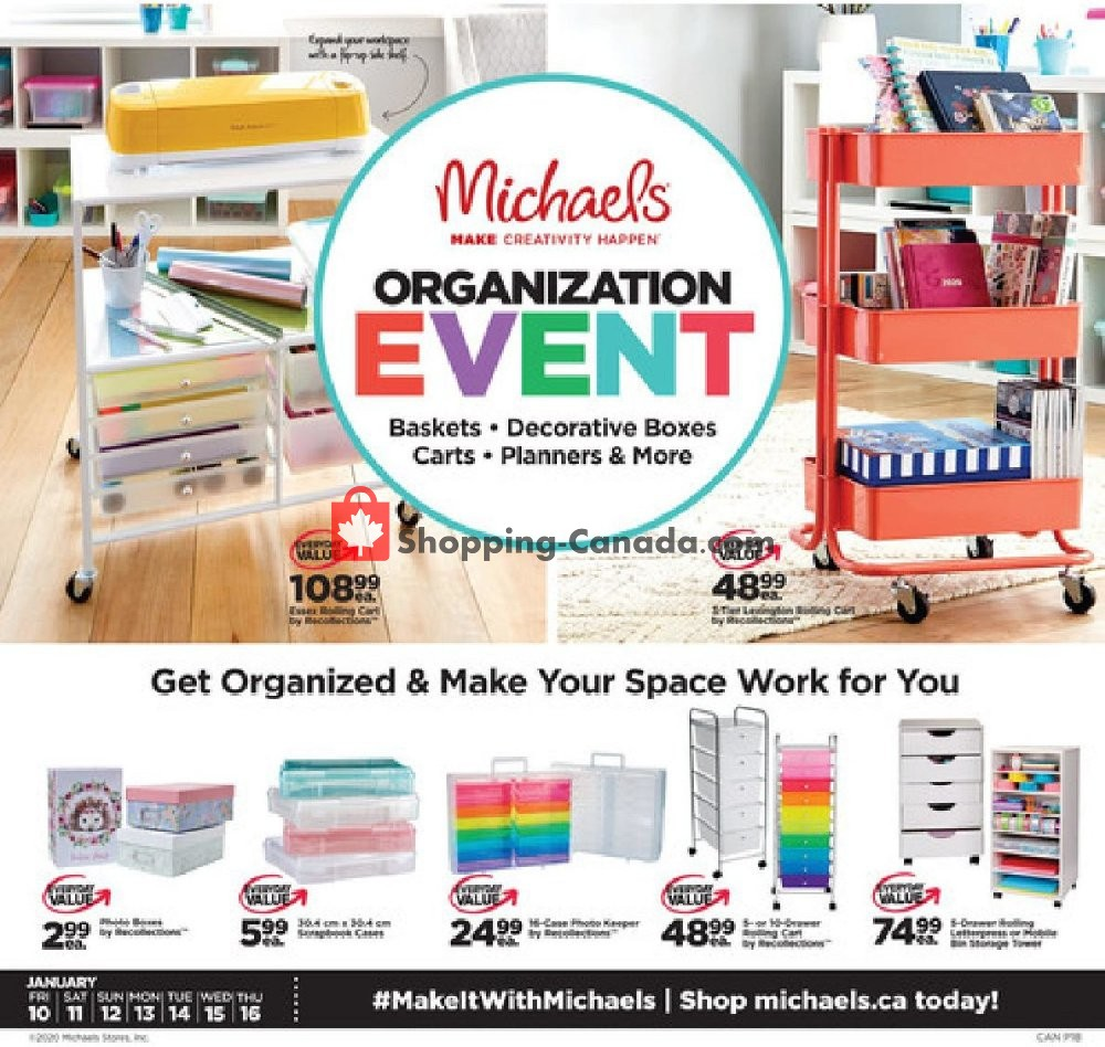 Flyer Michaels Canada - from Friday January 10, 2020 to Thursday January 16, 2020