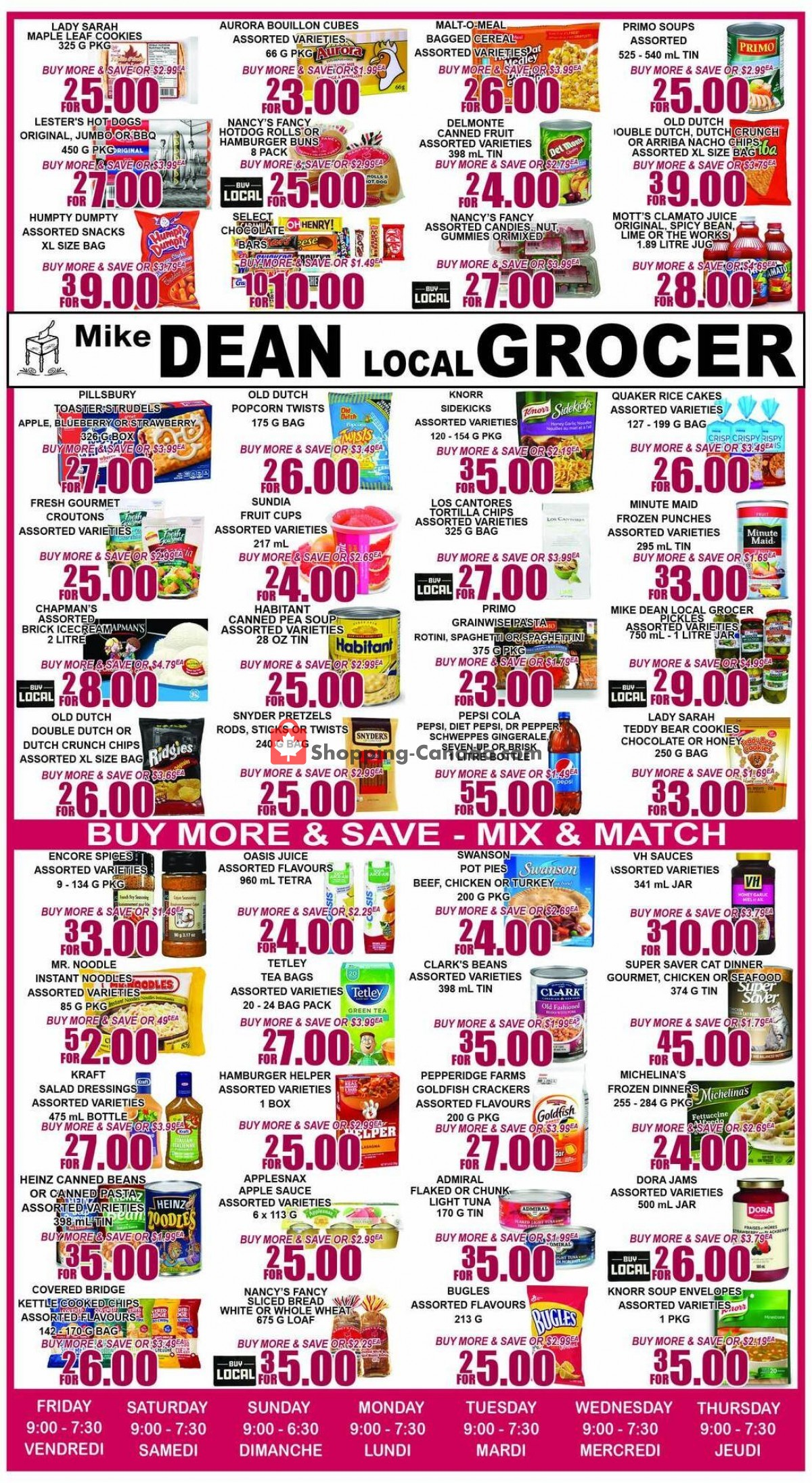 Flyer Mike Dean's Local Grocer Canada - from Friday April 30, 2021 to Thursday May 6, 2021