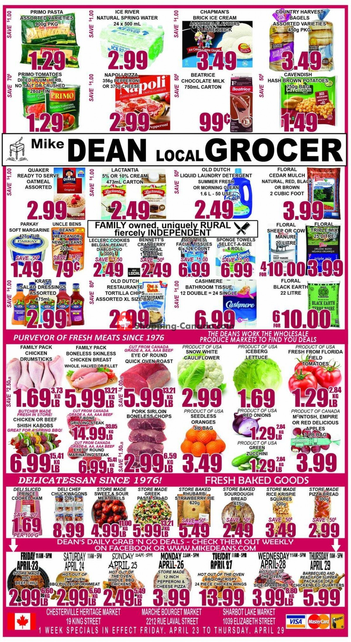 Flyer Mike Dean's Local Grocer Canada - from Friday April 23, 2021 to Thursday April 29, 2021
