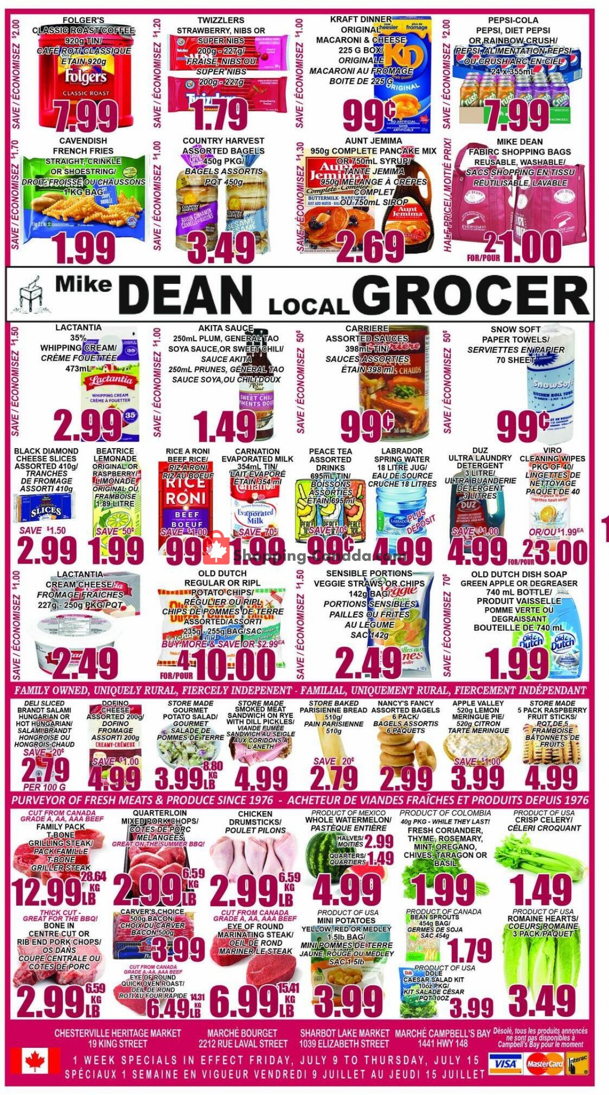 Flyer Mike Dean's Local Grocer Canada - from Friday July 9, 2021 to Thursday July 15, 2021