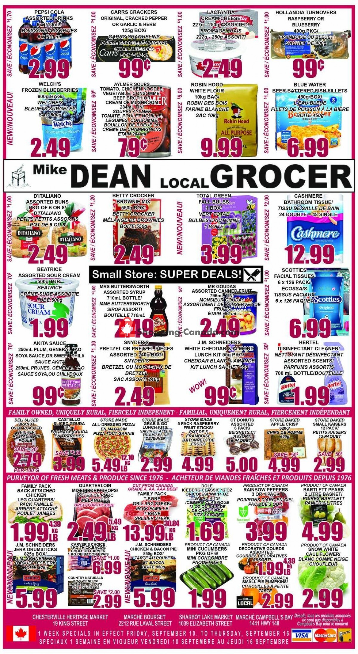 Flyer Mike Dean's Local Grocer Canada - from Friday September 10, 2021 to Thursday September 16, 2021