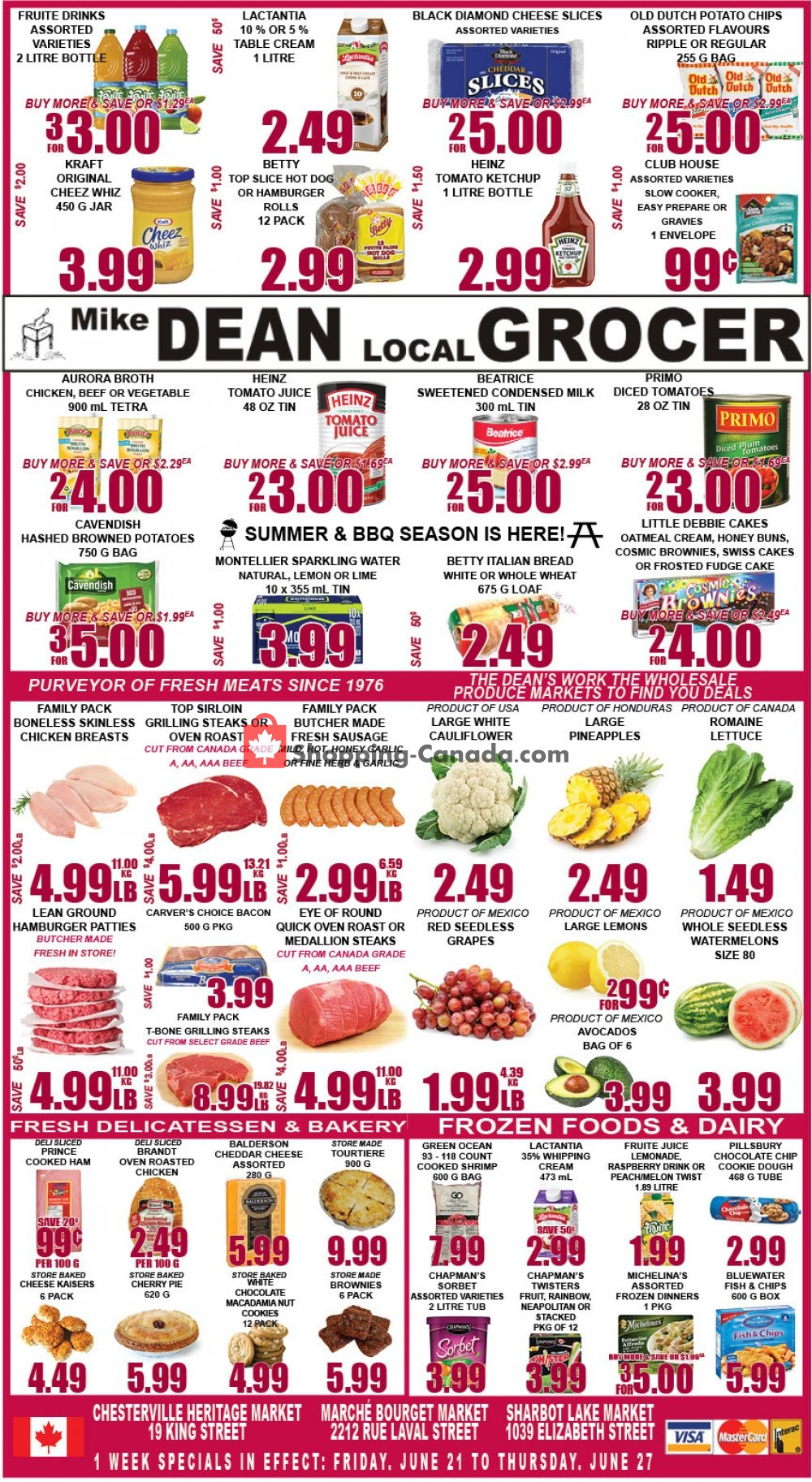 Flyer Mike Dean's Local Grocer Canada - from Friday June 21, 2019 to Thursday June 27, 2019