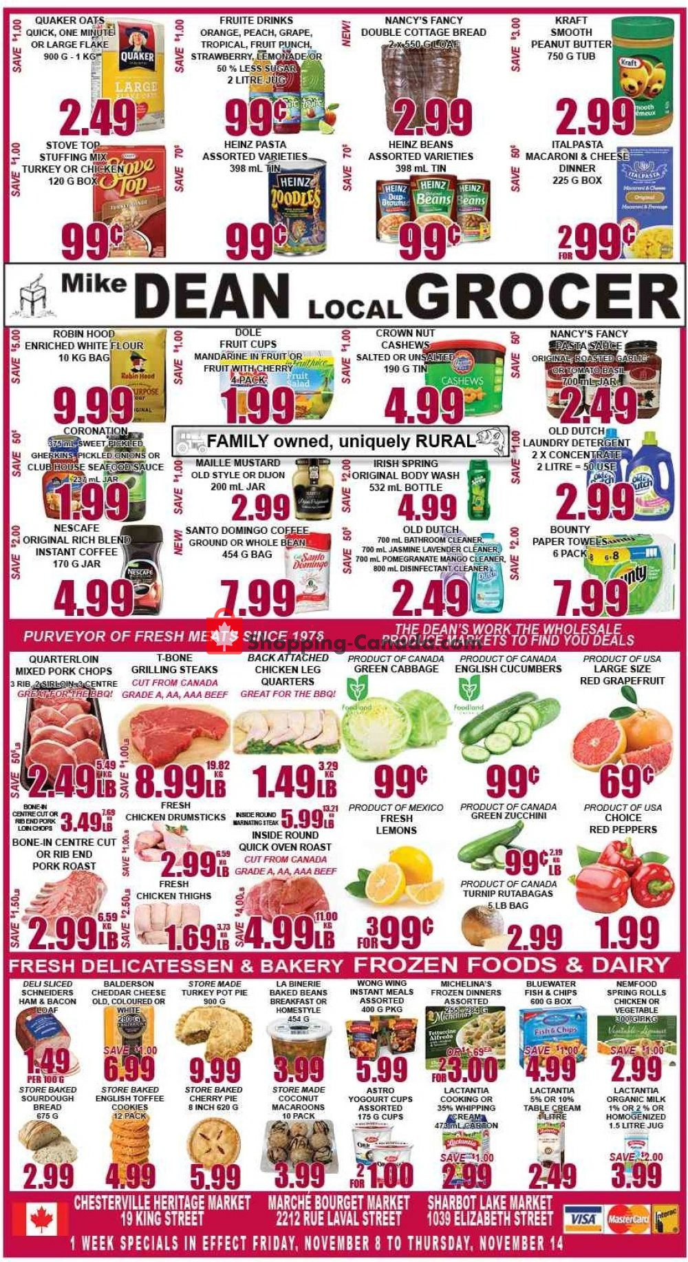 Flyer Mike Dean's Super Food Stores Canada - from Friday November 8, 2019 to Thursday November 14, 2019