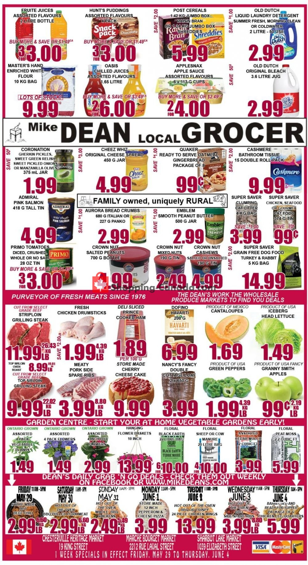Flyer Mike Dean's Super Food Stores Canada - from Friday May 29, 2020 to Thursday June 4, 2020