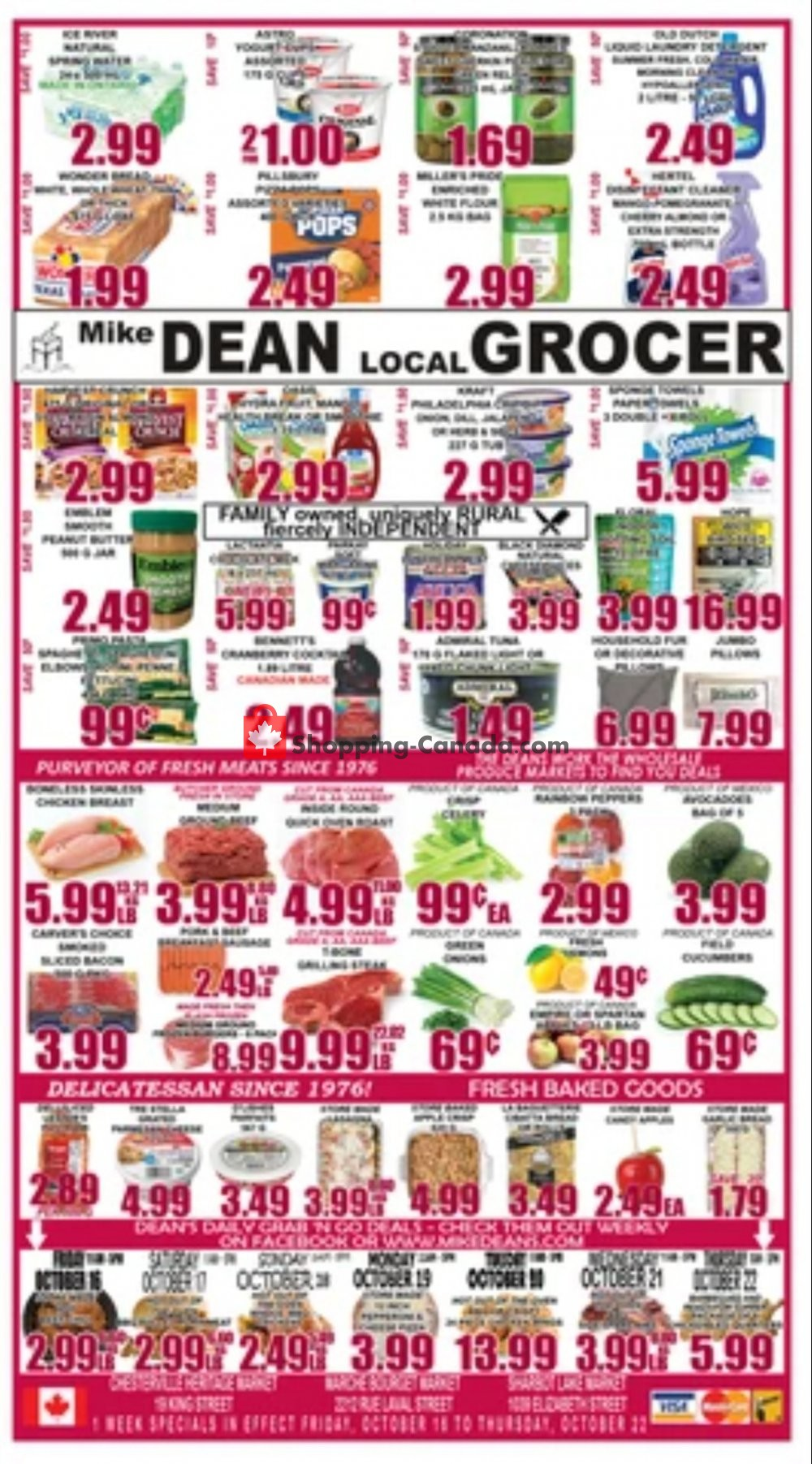 Flyer Mike Dean's Super Food Stores Canada - from Friday October 16, 2020 to Thursday October 22, 2020