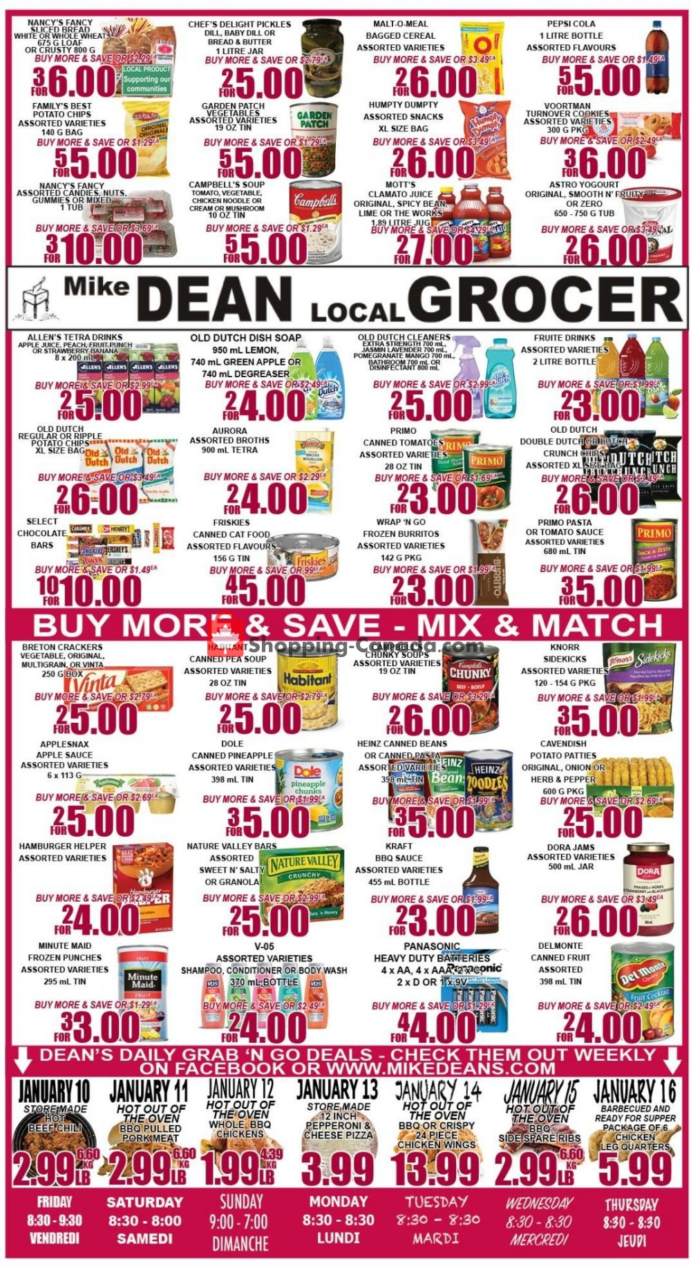 Flyer Mike Dean's Super Food Stores Canada - from Friday January 10, 2020 to Thursday January 16, 2020