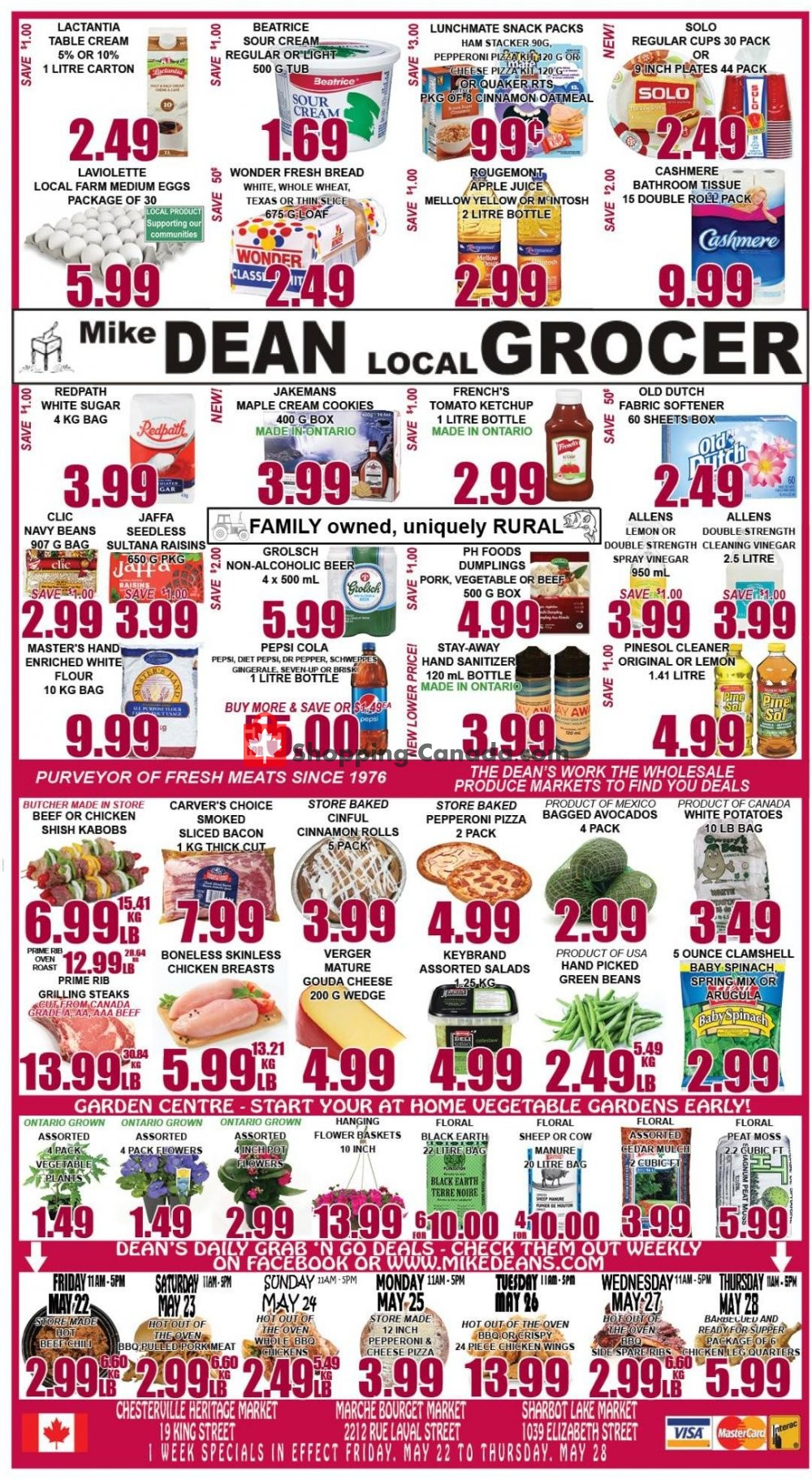 Flyer Mike Dean's Super Food Stores Canada - from Friday May 22, 2020 to Thursday May 28, 2020
