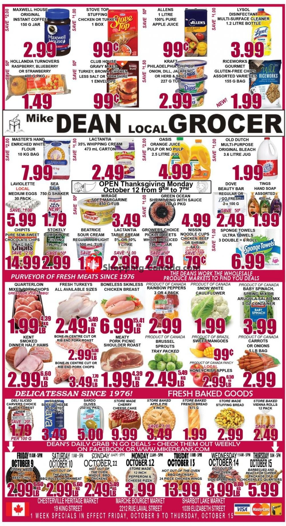 Flyer Mike Dean's Super Food Stores Canada - from Friday October 9, 2020 to Thursday October 15, 2020