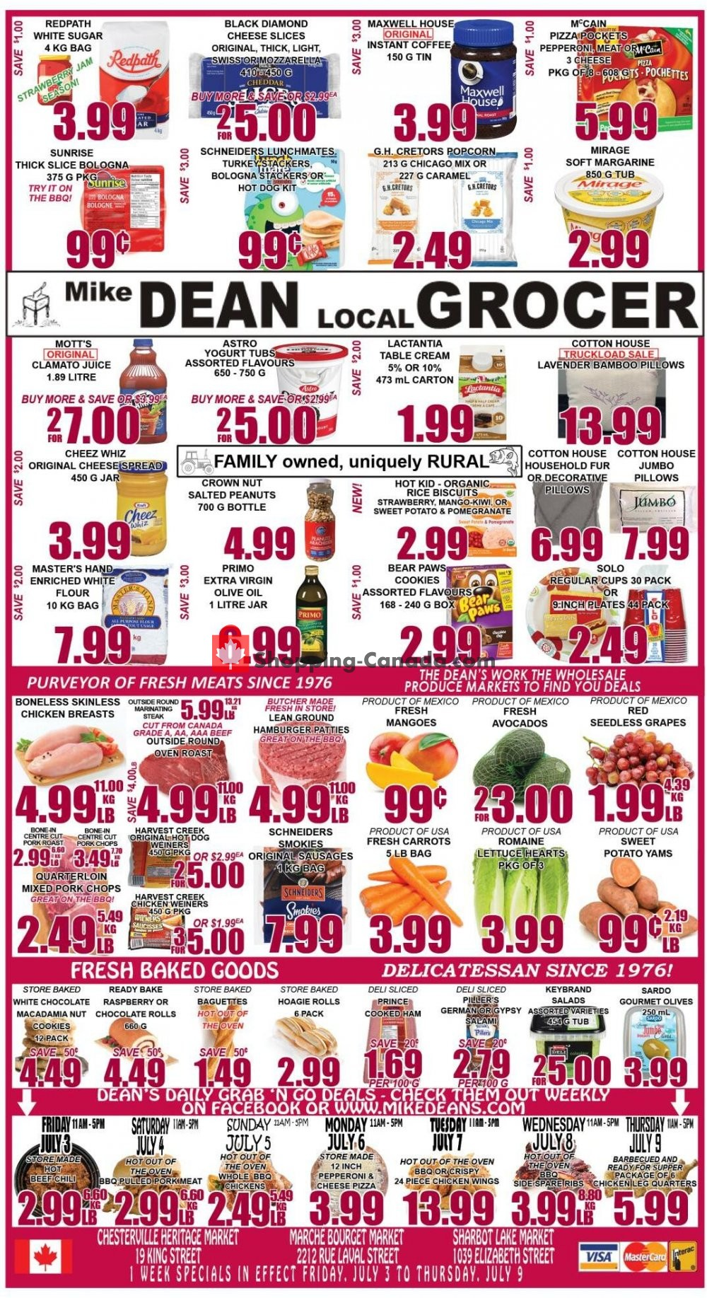 Flyer Mike Dean's Local Grocer Canada - from Friday July 3, 2020 to Thursday July 9, 2020