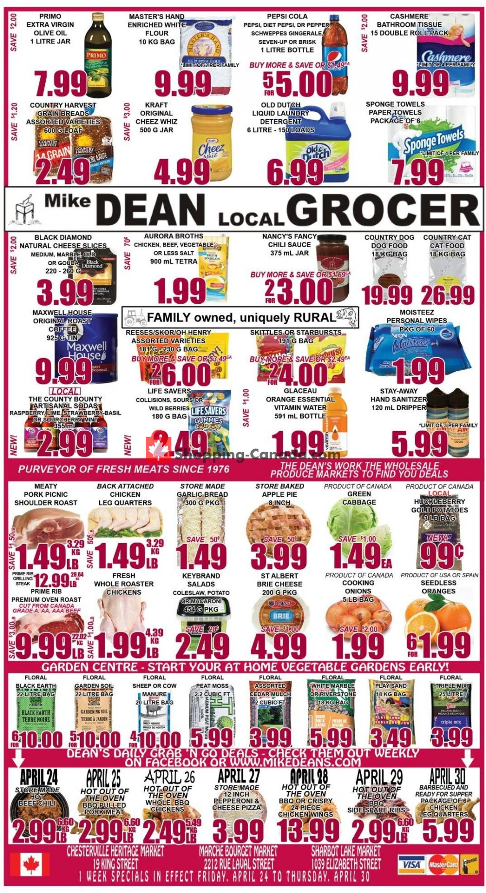 Flyer Mike Dean's Local Grocer Canada - from Friday April 24, 2020 to Thursday April 30, 2020