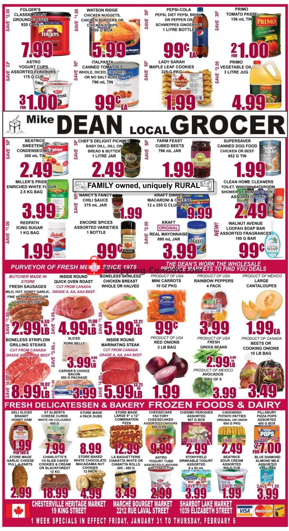 Flyer Mike Dean's Super Food Stores Canada - from Friday January 31, 2020 to Thursday February 6, 2020