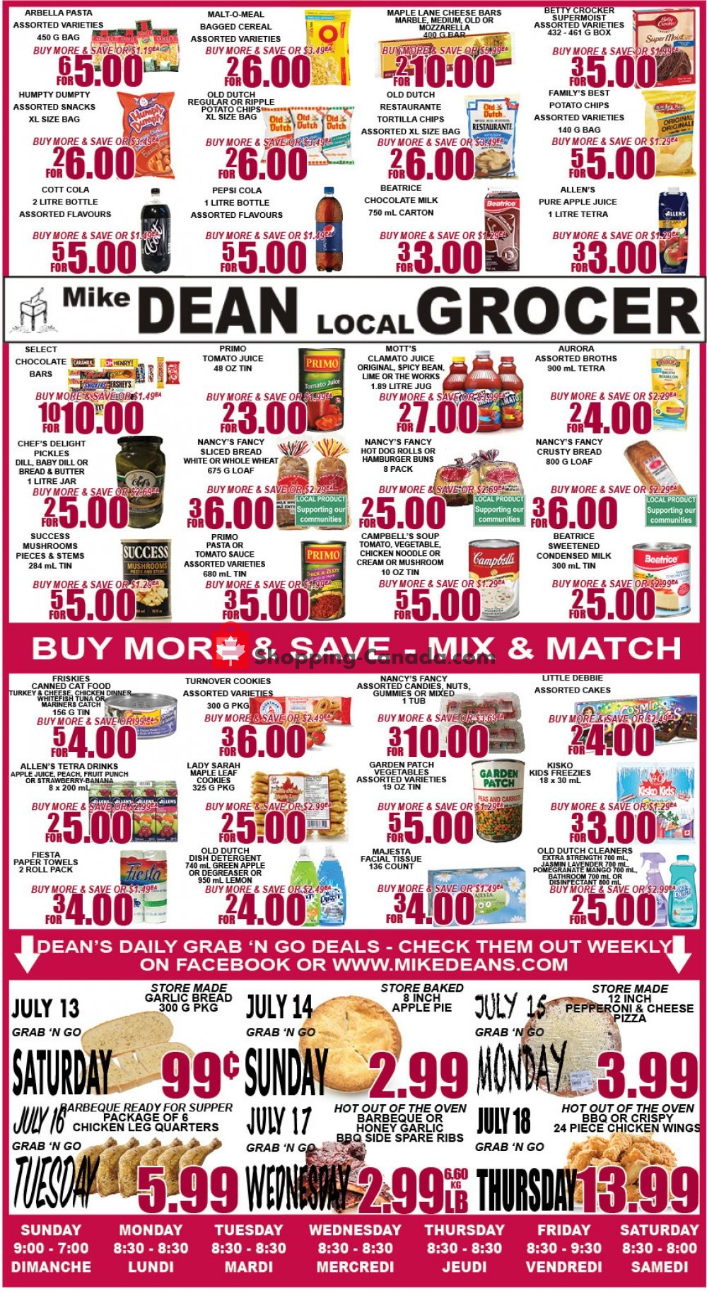 Flyer Mike Dean's Super Food Stores Canada - from Friday July 12, 2019 to Thursday July 18, 2019