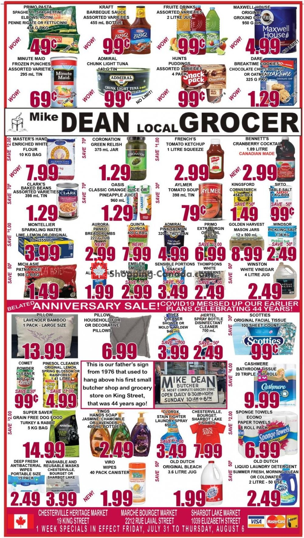 Flyer Mike Dean's Local Grocer Canada - from Friday July 31, 2020 to Thursday August 6, 2020