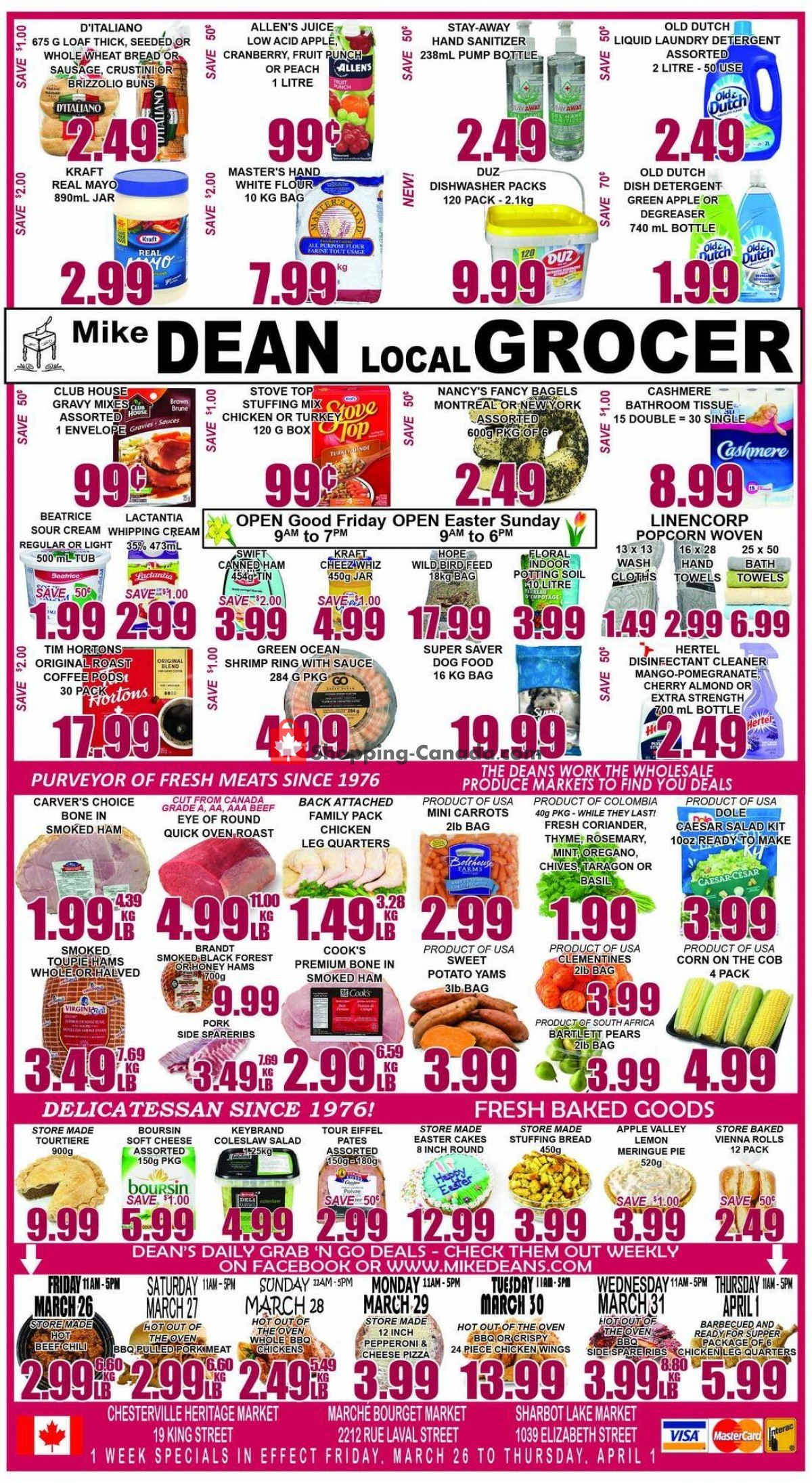 Flyer Mike Dean's Local Grocer Canada - from Friday March 26, 2021 to Thursday April 1, 2021