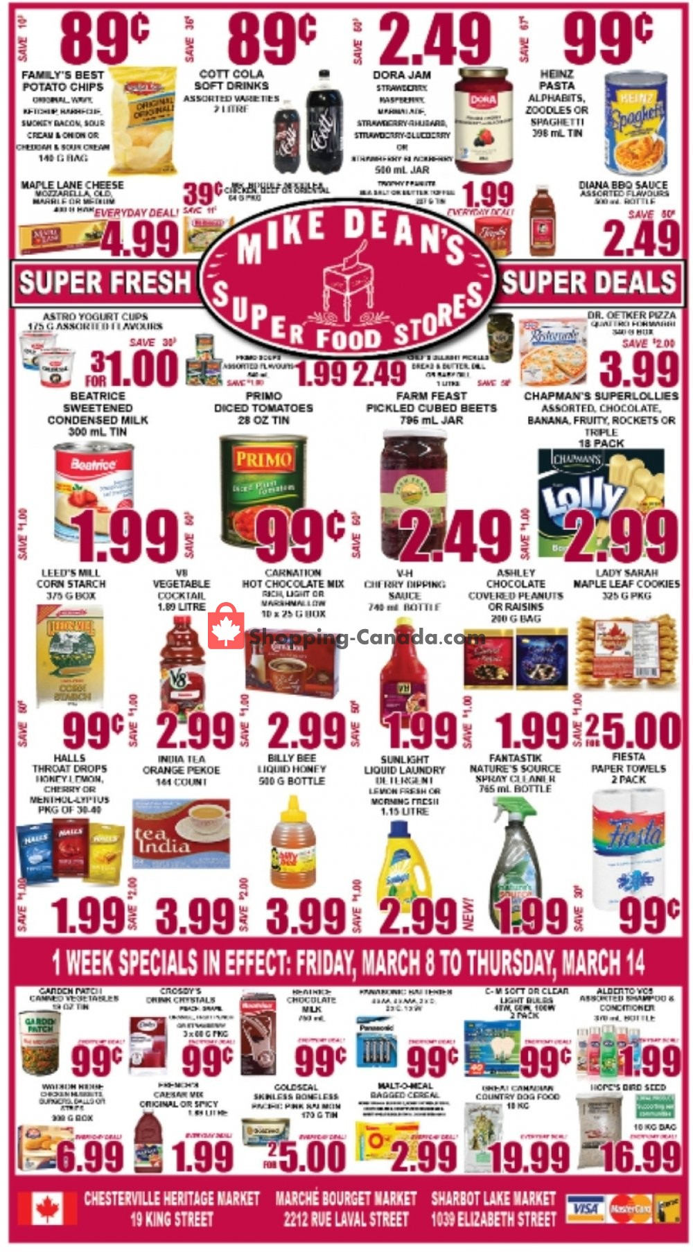 Flyer Mike Dean's Super Food Stores Canada - from Friday March 8, 2019 to Thursday March 14, 2019