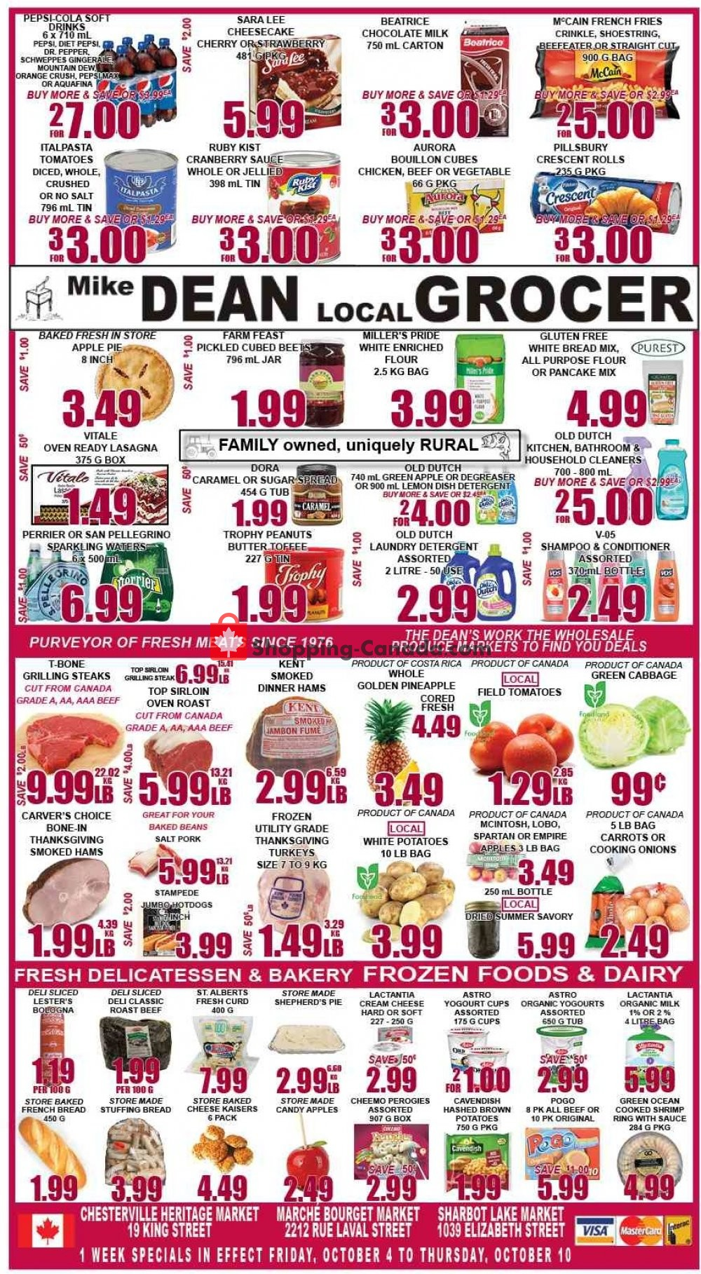 Flyer Mike Dean's Super Food Stores Canada - from Friday October 4, 2019 to Thursday October 10, 2019