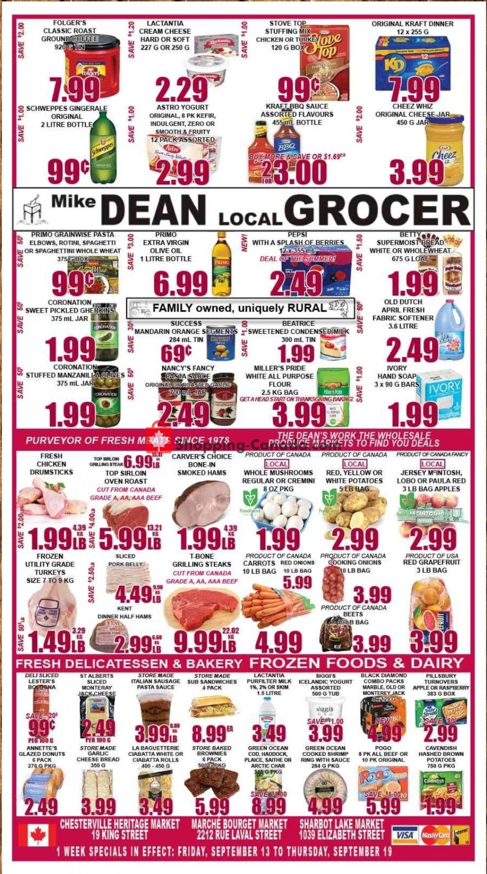 Flyer Mike Dean's Local Grocer Canada - from Friday September 13, 2019 to Thursday September 19, 2019