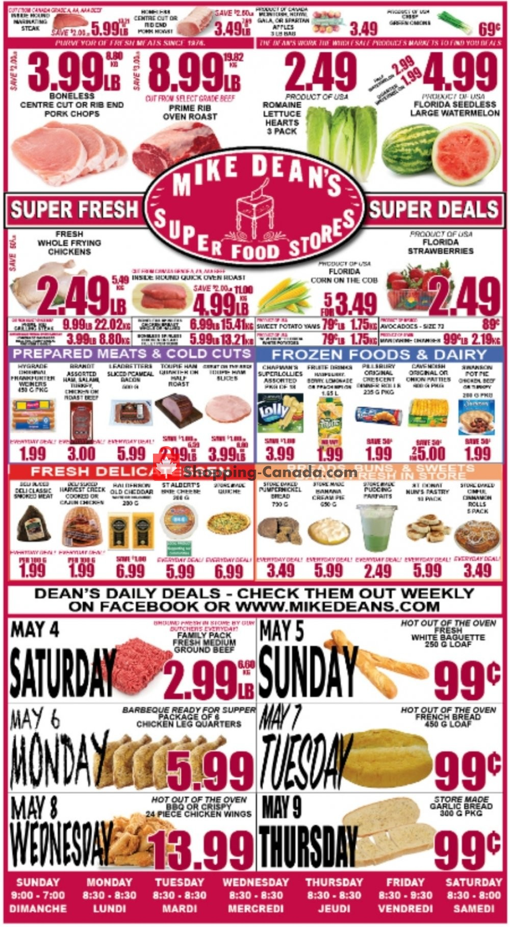 Flyer Mike Dean's Local Grocer Canada - from Friday May 3, 2019 to Thursday May 9, 2019