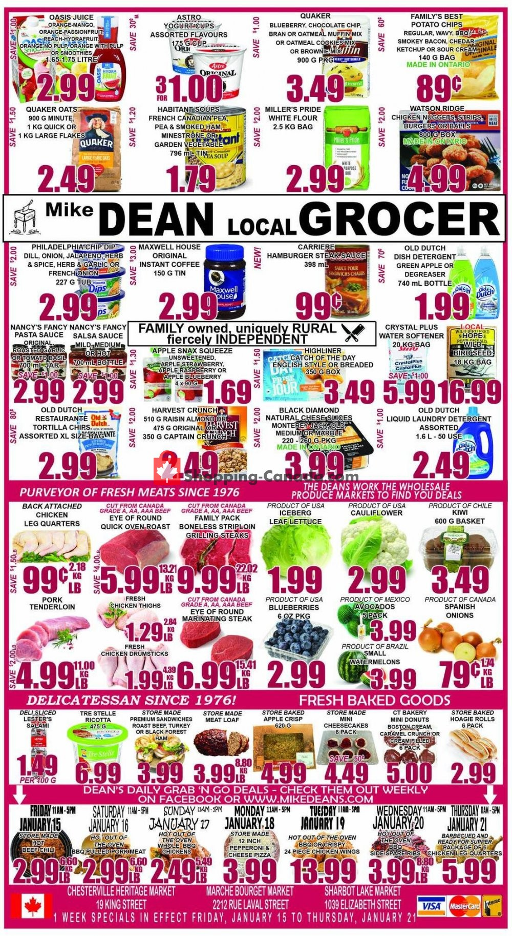 Flyer Mike Dean's Local Grocer Canada - from Friday January 15, 2021 to Thursday January 21, 2021