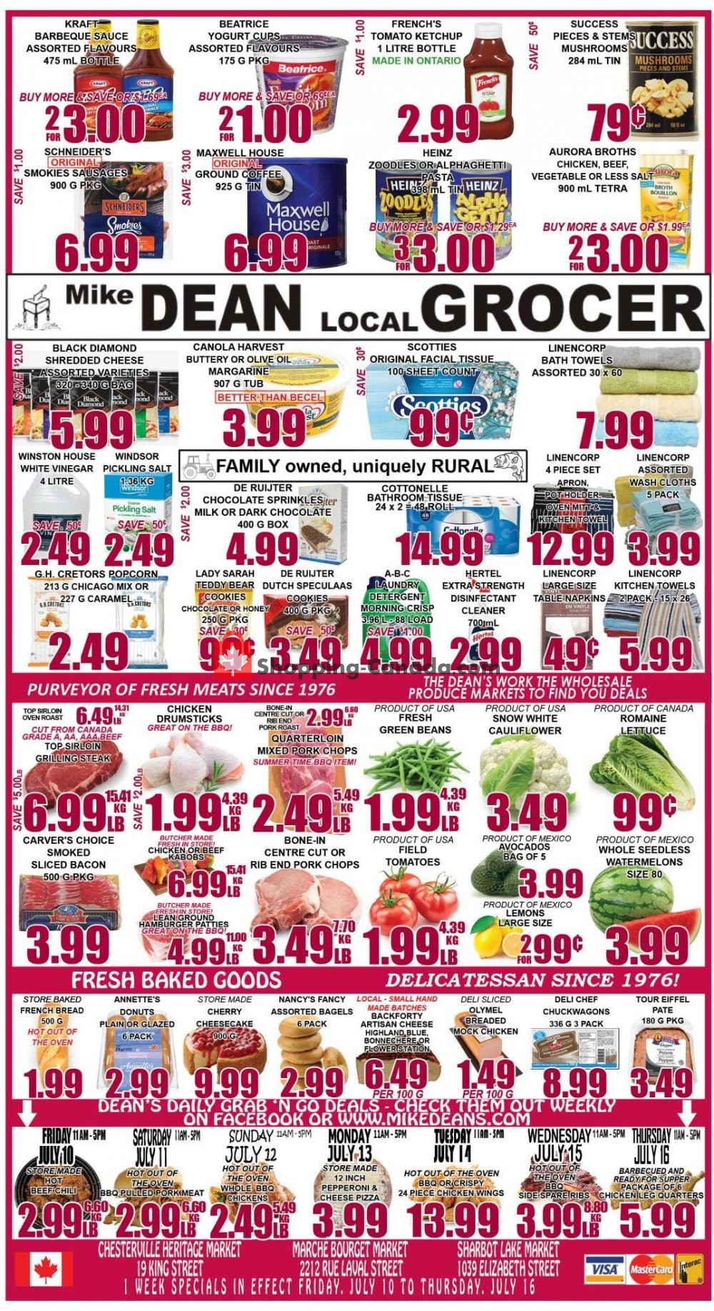 Flyer Mike Dean's Super Food Stores Canada - from Friday July 10, 2020 to Thursday July 16, 2020